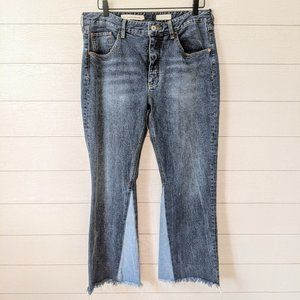 Anthropologie PILCRO Cropped Flare Jeans 31